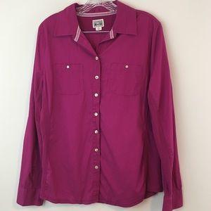 Converse pink button down shirt size XL